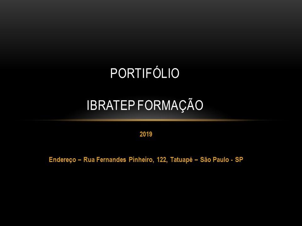 Portfólio Formação - Cursos disponíveis na escola e Empresas.